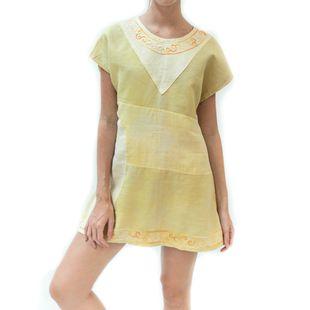 Vestido-Andorinha-Bordado-Vestido-amarelo-P