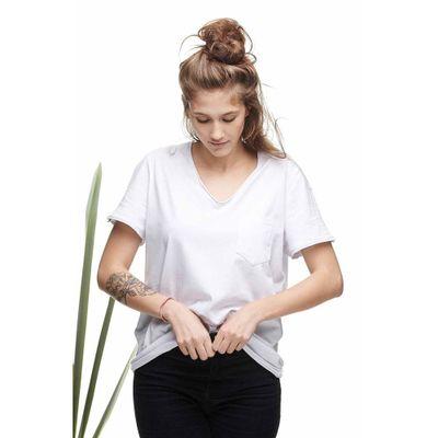Camiseta-Eco-Gola-V-com-Bolso-Branco---M