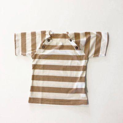 Camiseta-Listrada-Marrom-e-Bege--Marrom-e-Cru---2-anos
