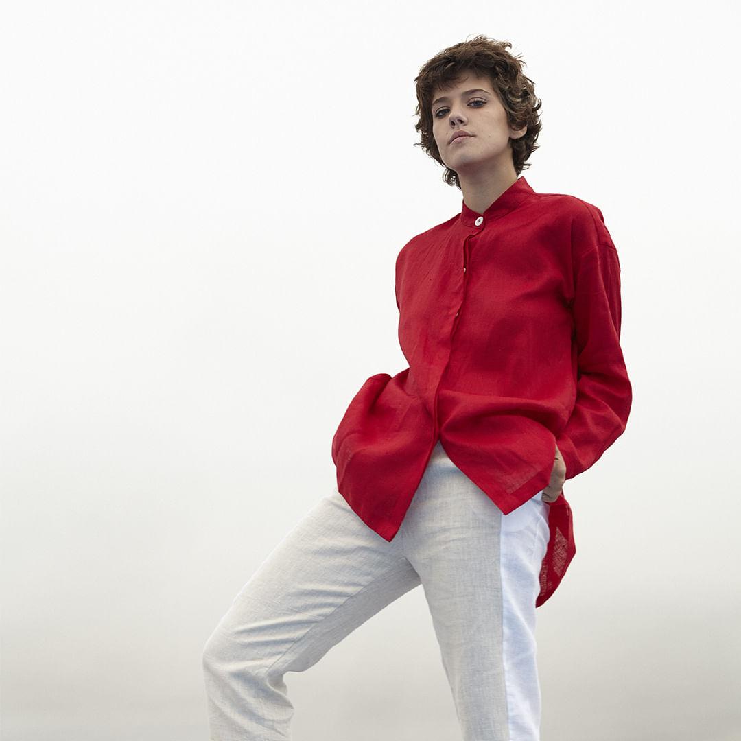 Camisa-Linho-Abertura-Costas-Vermelho-Tam-P