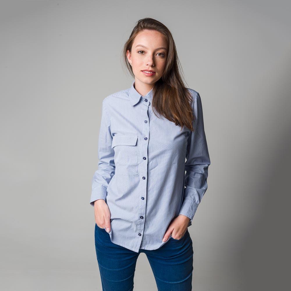 Camisa-de-Algodao-Listrada-Tam-GG