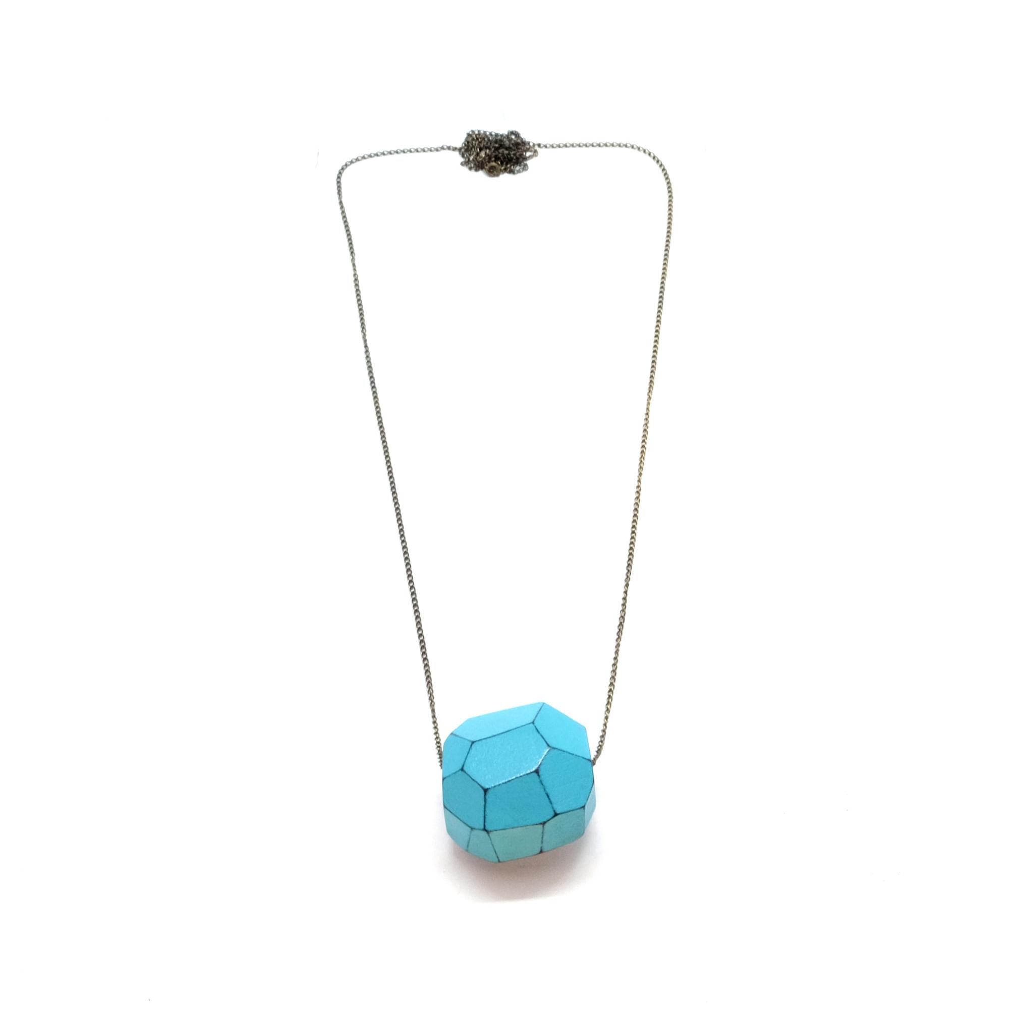 Colar-Facetado-Mini-Azul-Tamanho-Unico