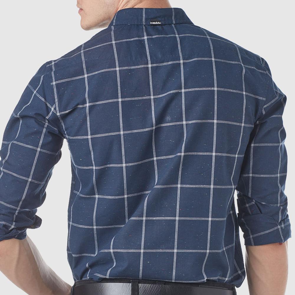 Camisa Masculina Line Square Blue Convicto