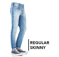 Calça Regular Skinny