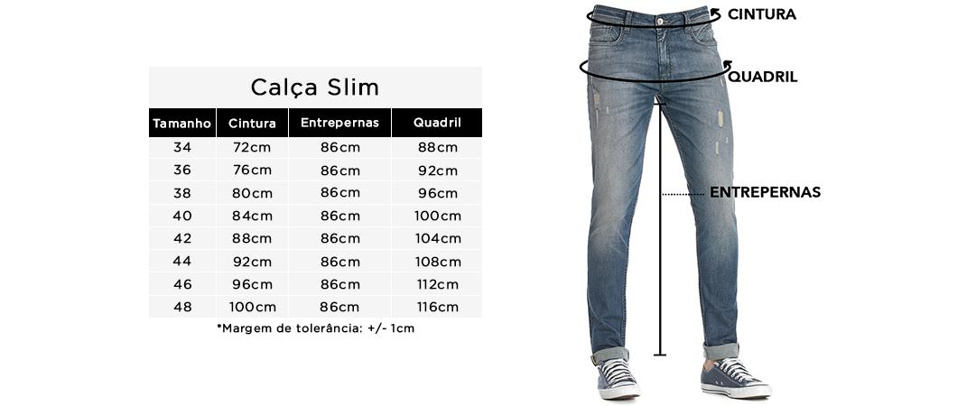 Calça Slim