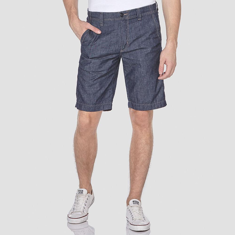 Bermuda Jeans Leve Poá