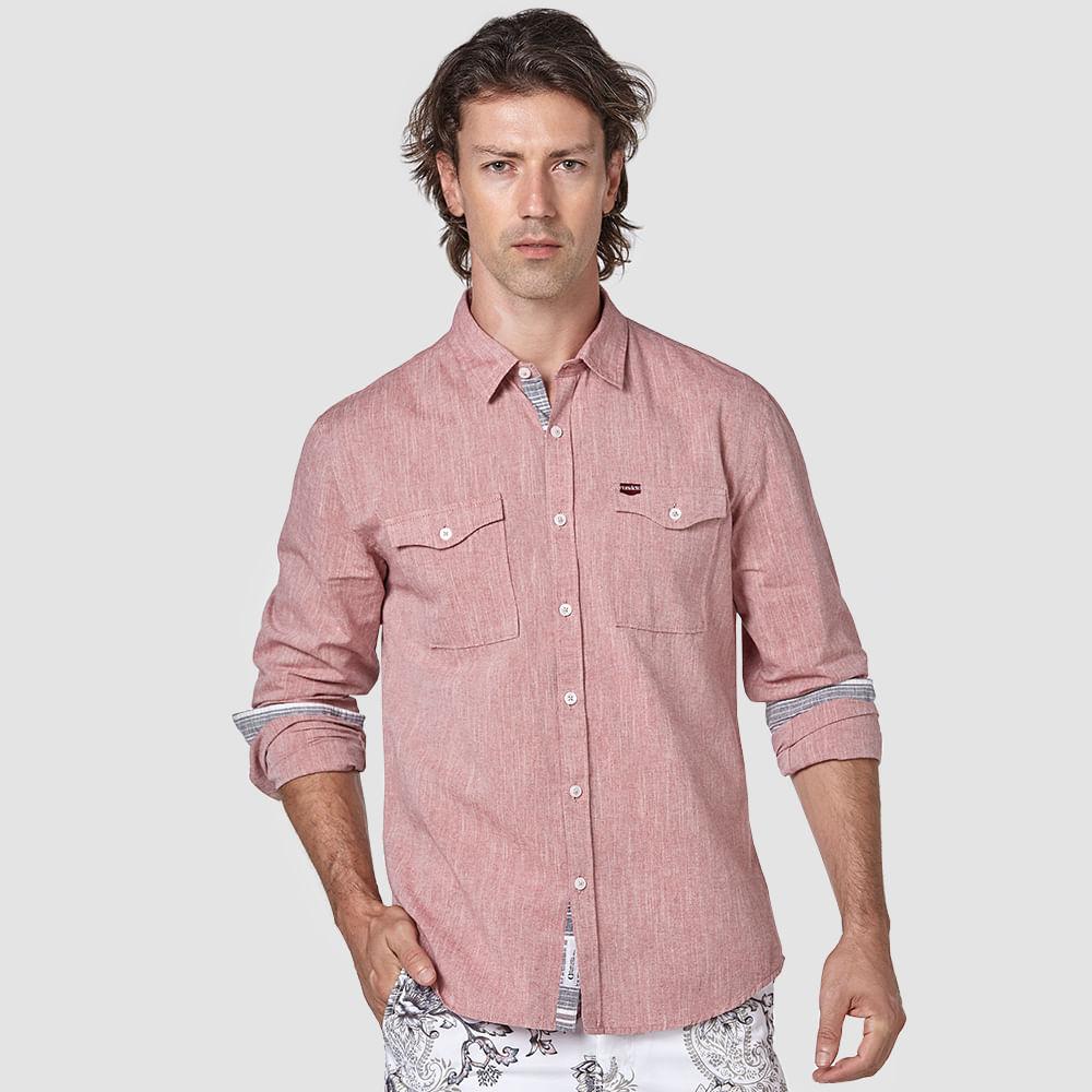 Camisa-Lisa-Dois-Bolsos-