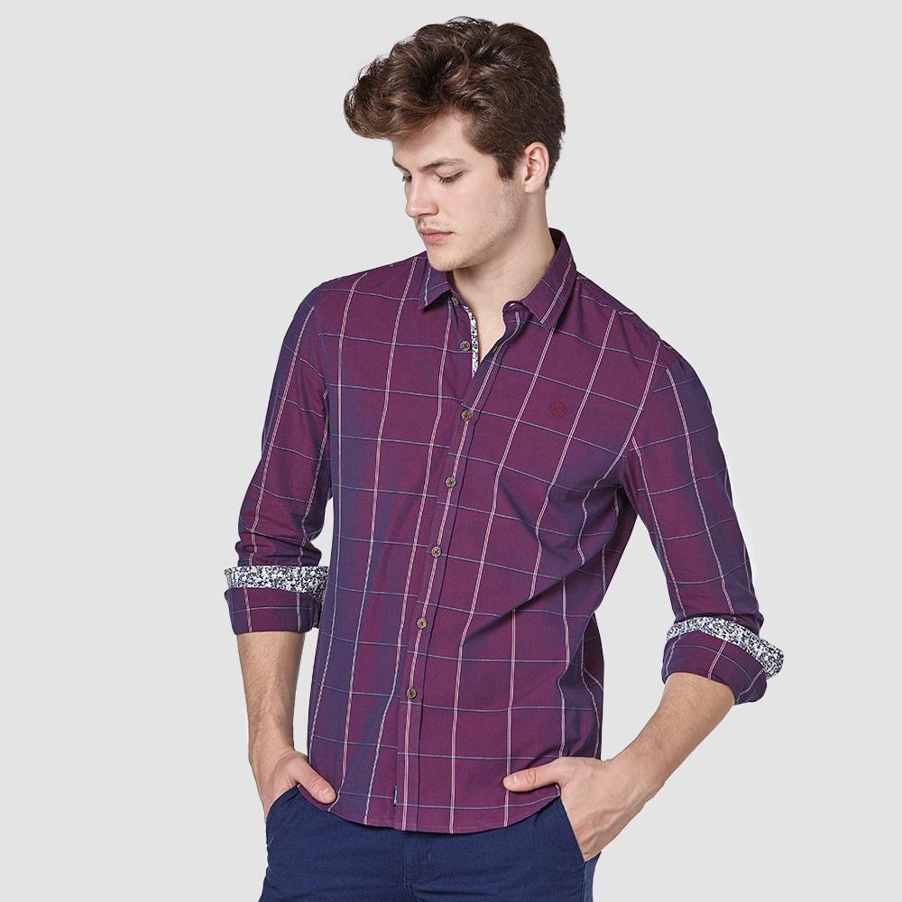 Camisa-Xadrez-Bordada