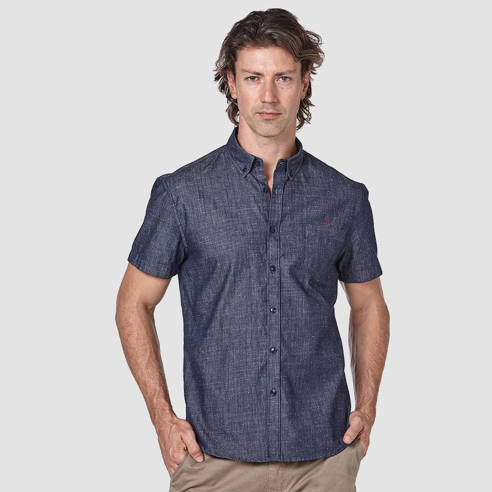 Camisa-Jeans-Poa