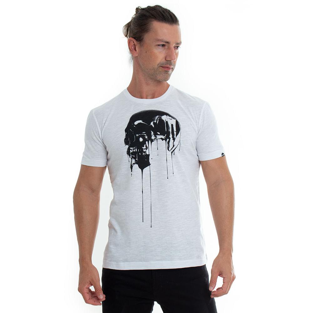 Camiseta-Silk-Skull