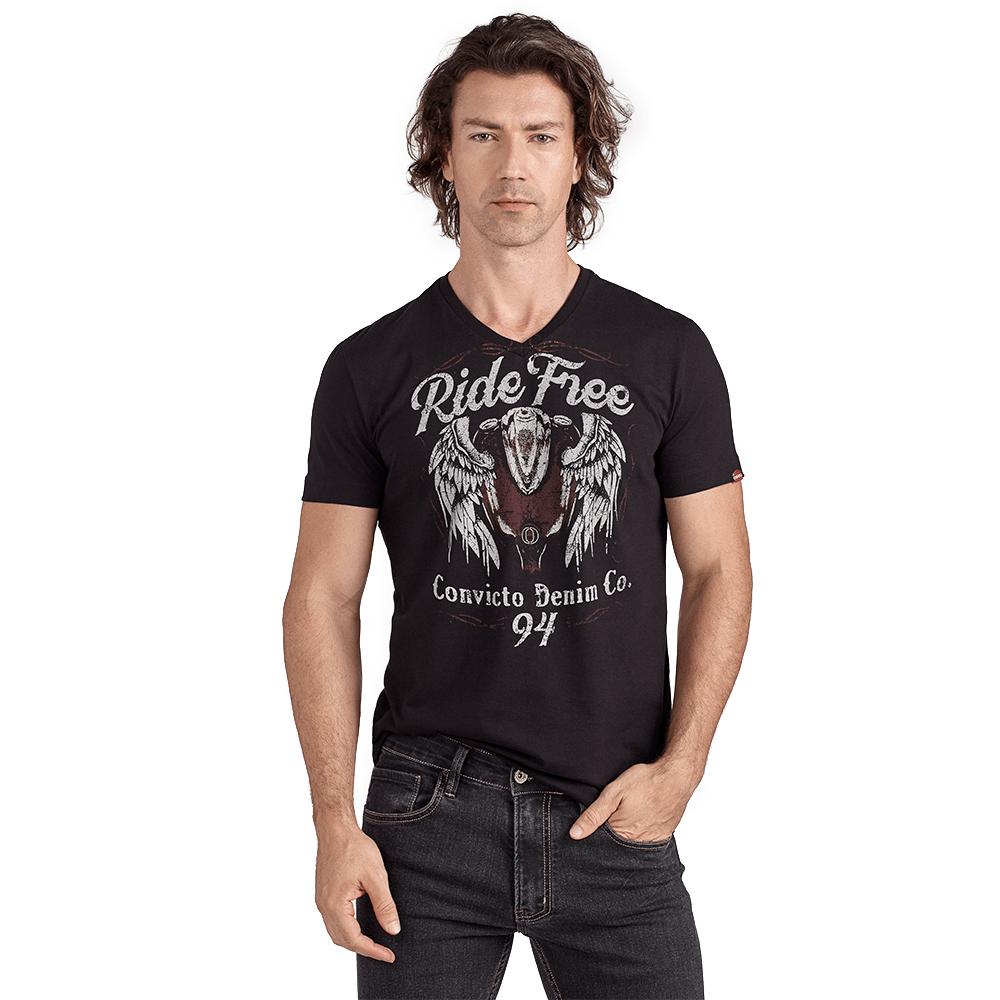 Camiseta-Convicto-Ride-Free