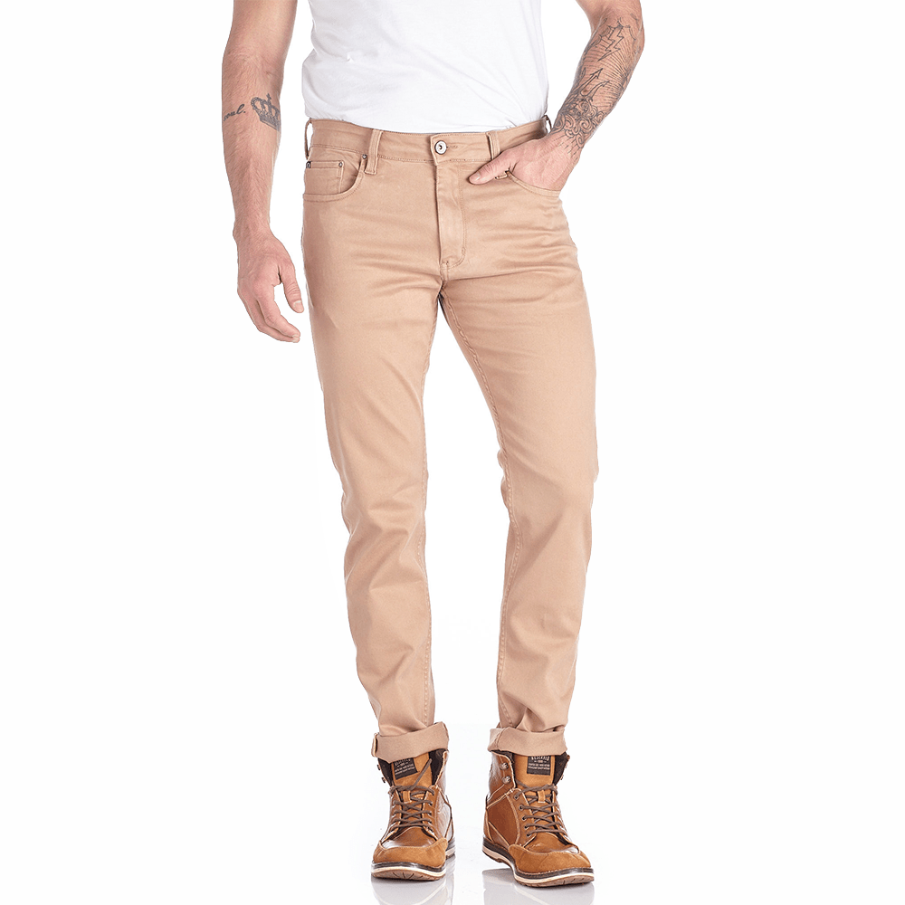 Calça Slim Color Bordada