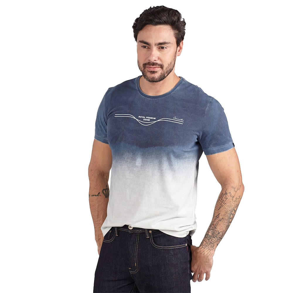 CAMISETA-CONVICTO-COM-JATO-DE-PIGMENTO-DEGRADE-ESTAMPA-ROYAL-PREMIUM-DENIM-