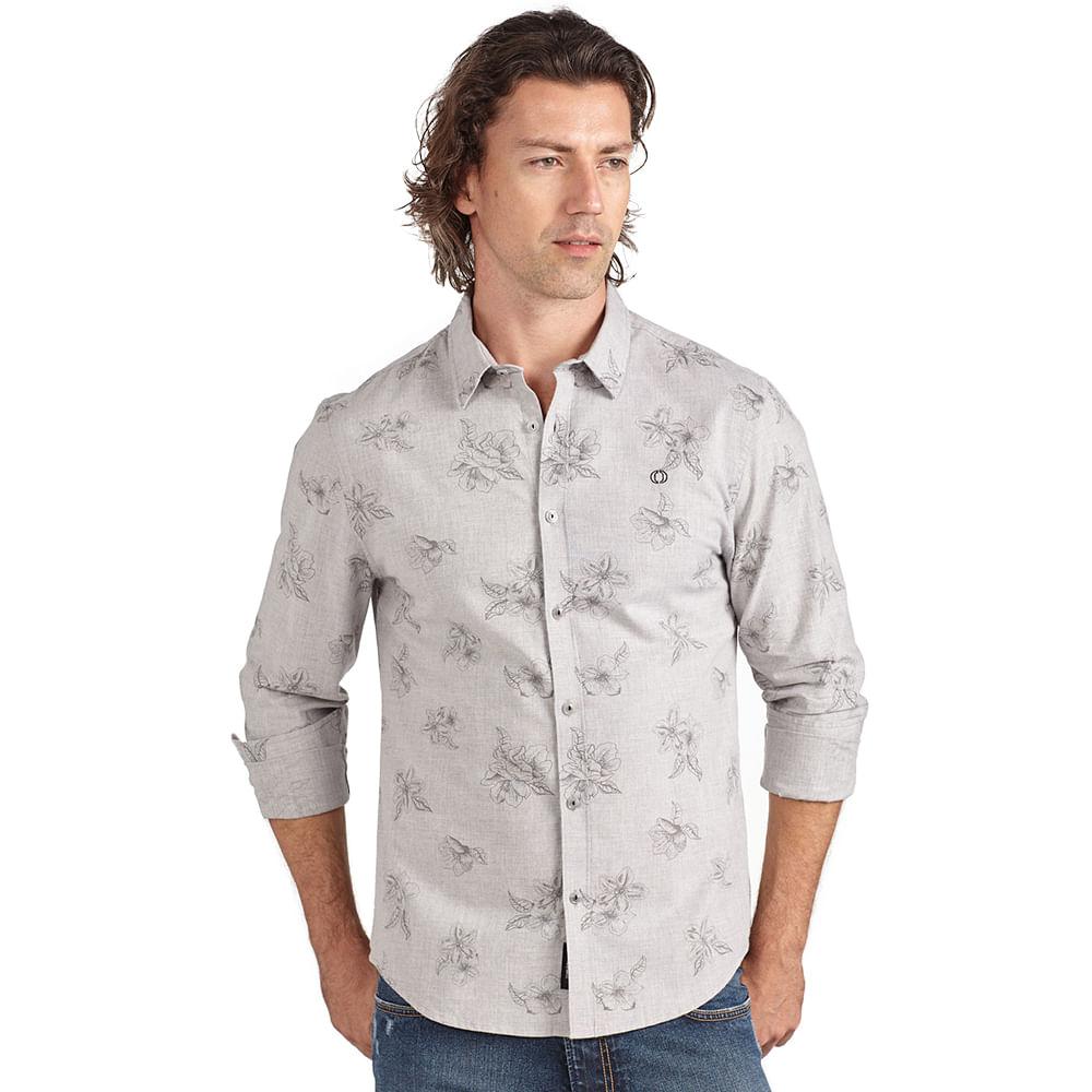 Camisa-slim-estampa-flores