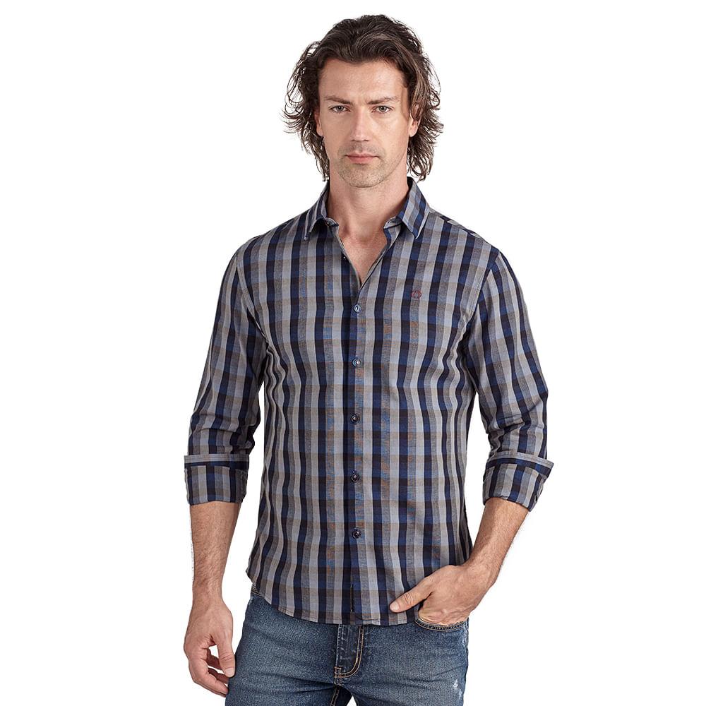 Camisa Masculina Slim Xadrez Convicto