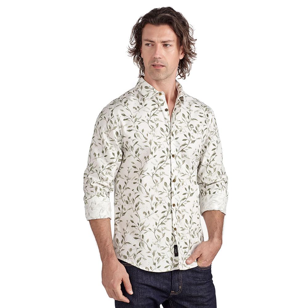 Camisa-slim-estampa-folhagem