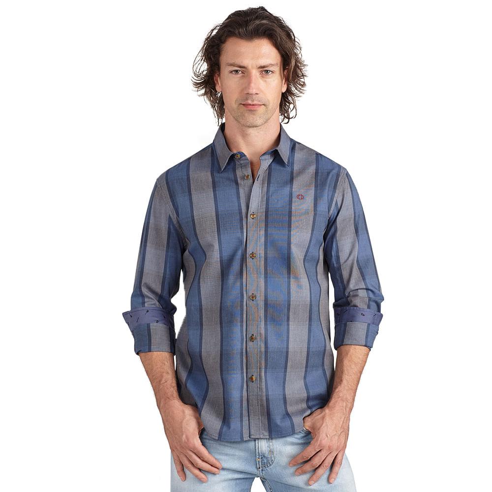 Camisa-slim-xadrez-com-bordado