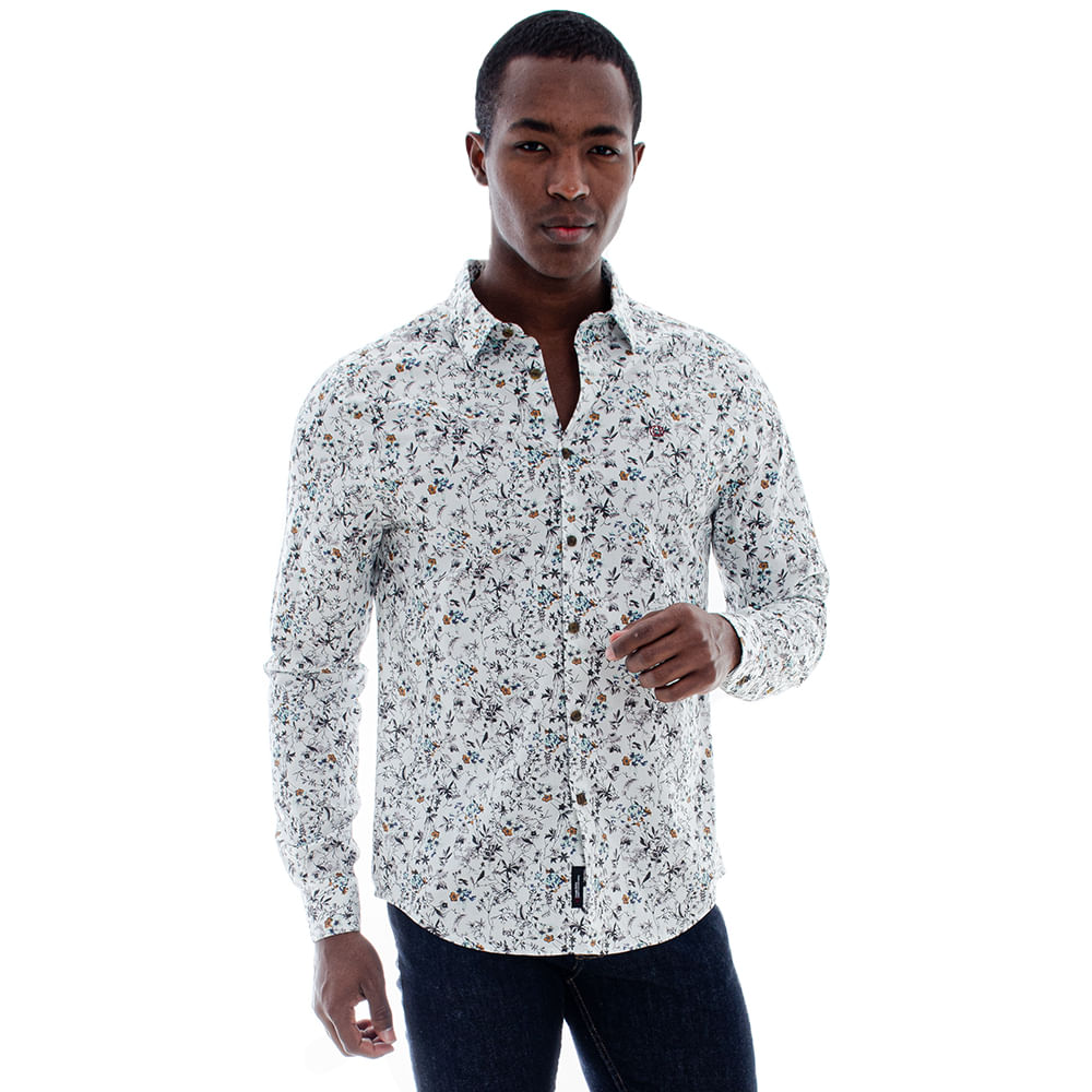 Camisa-Convicto-Masculina-Floral