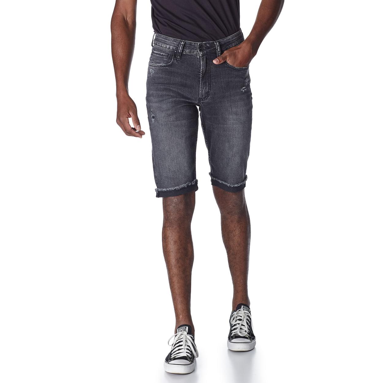 Bermuda-Jeans-Masculina-Convicto-Black