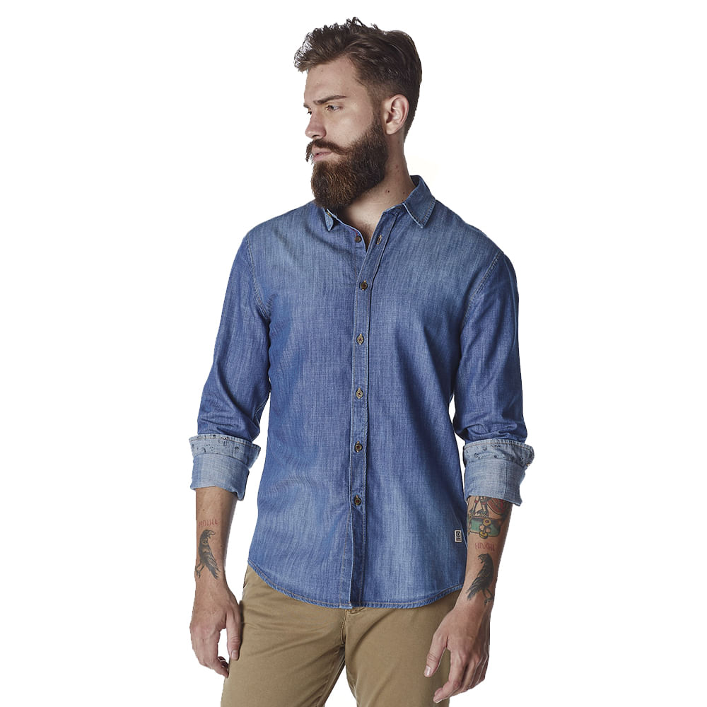 Camisa-Masculina-Convicto-Manga-Longa-Jeans