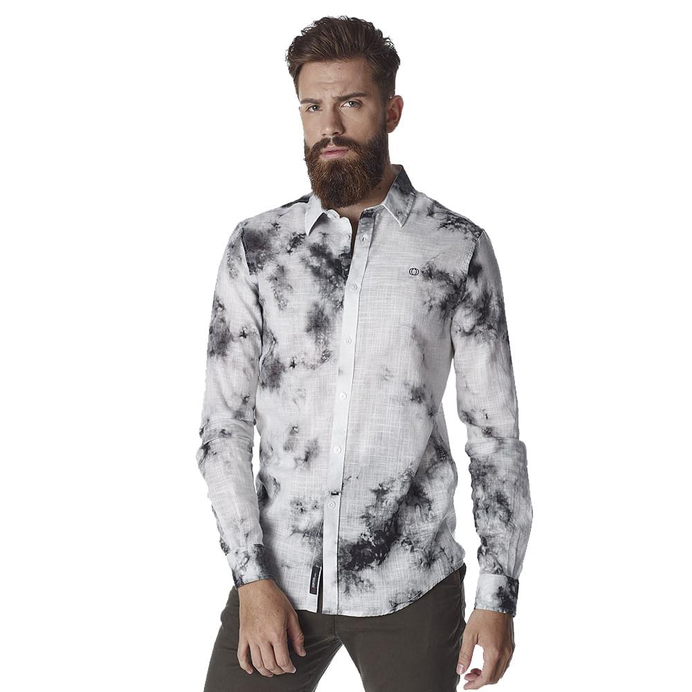 Camisa-Masculina-Convicto-Manga-Longa-estampada