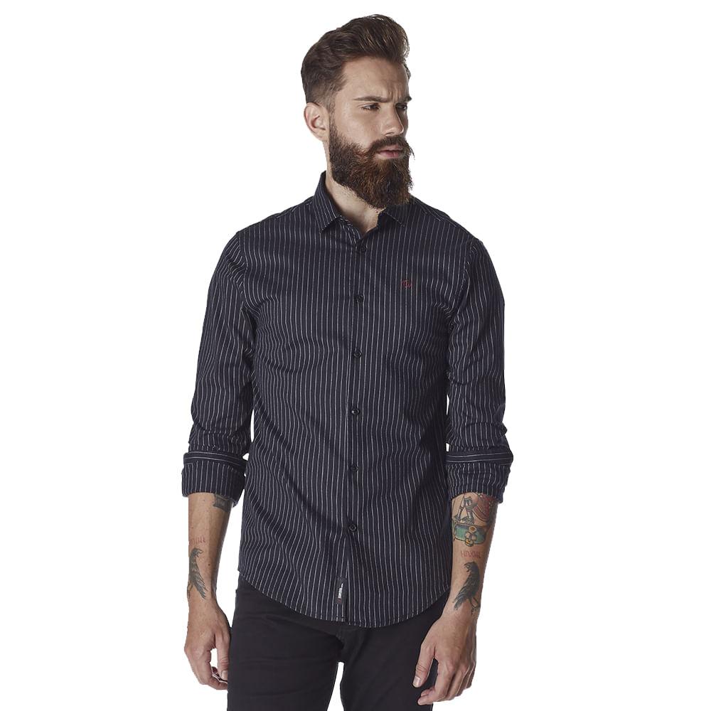 Camisa-Masculina-Convicto-Slim-Manga-Longa-Listrada