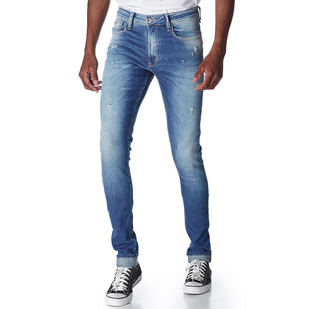 Calca-Jeans-Masculina-Convicto-Super-Skinny-com-Used-Puidos-e-Bolsos-Bordados