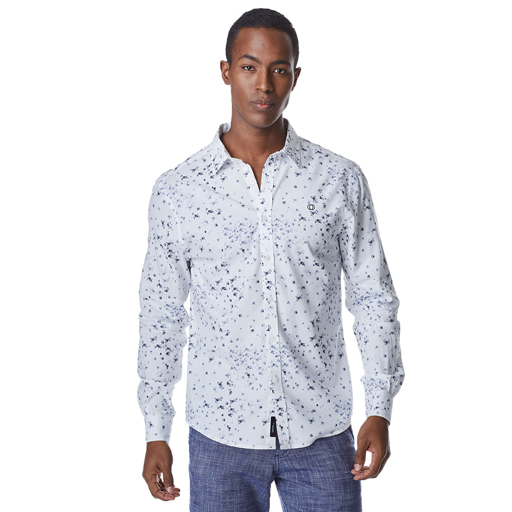 Camisa-Manga-Longa-Masculina-Convicto-Estampa-Micro-Floral