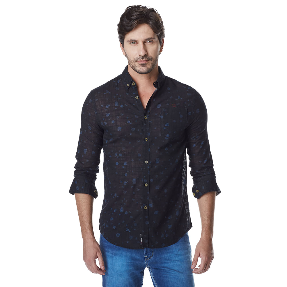 Camisa-Manga-Longa-Masculina-Convicto-Com-Estampa-Exclusiva