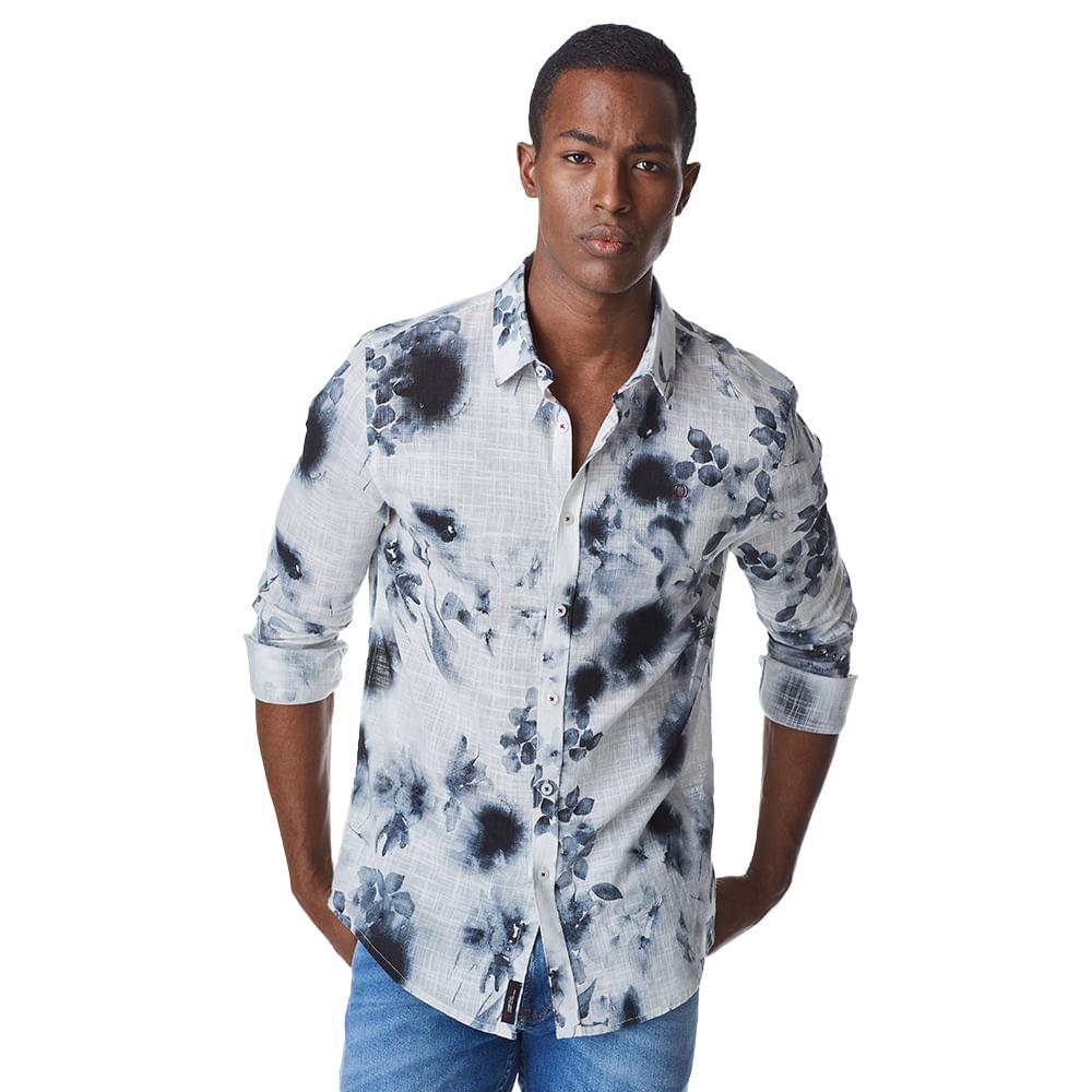 Camisa-Manga-Longa-Masculina-Convicto-Tye-Dye-Flower