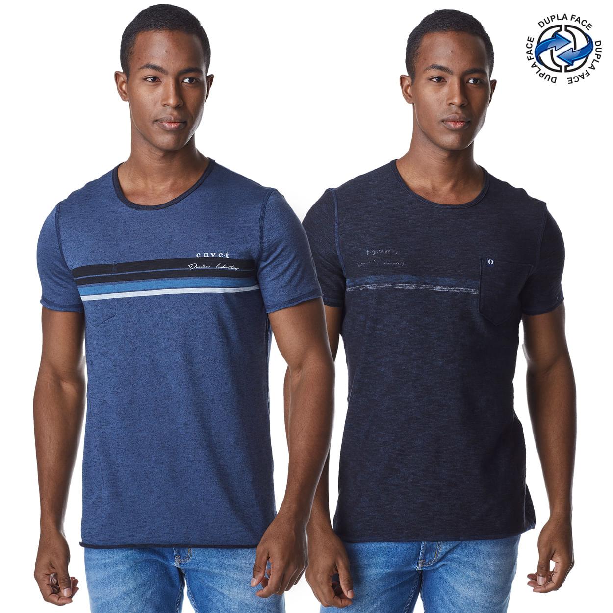 Camiseta-Manga-Curta-Masculina-Convicto-Dupla-Face