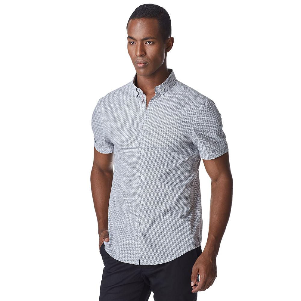 Camisa-Manga-Curta-Masculina-Convicto-Estampa-Gravataria