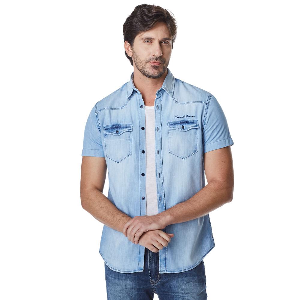Camisa-Manga-Curta-Masculina-Convicto-Jeans