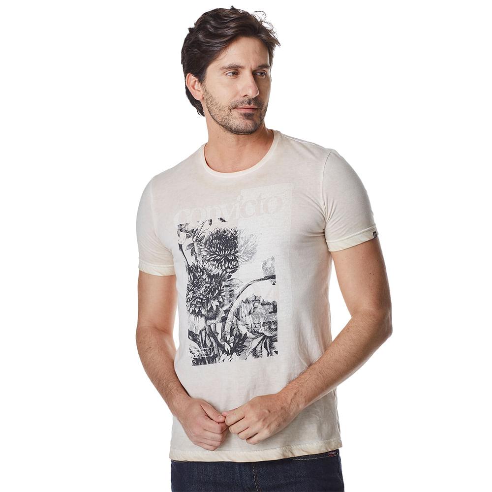 Camiseta-Manga-Curta-Masculina-Convicto-Estampada-e-Tingida