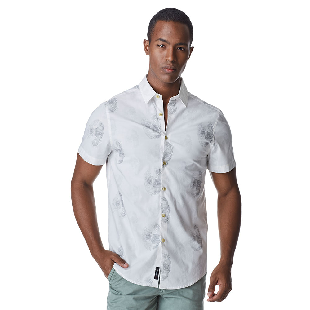 Camisa-Manga-Curta-Masculina-Convicto-Estampa-Exclusiva-Caveira