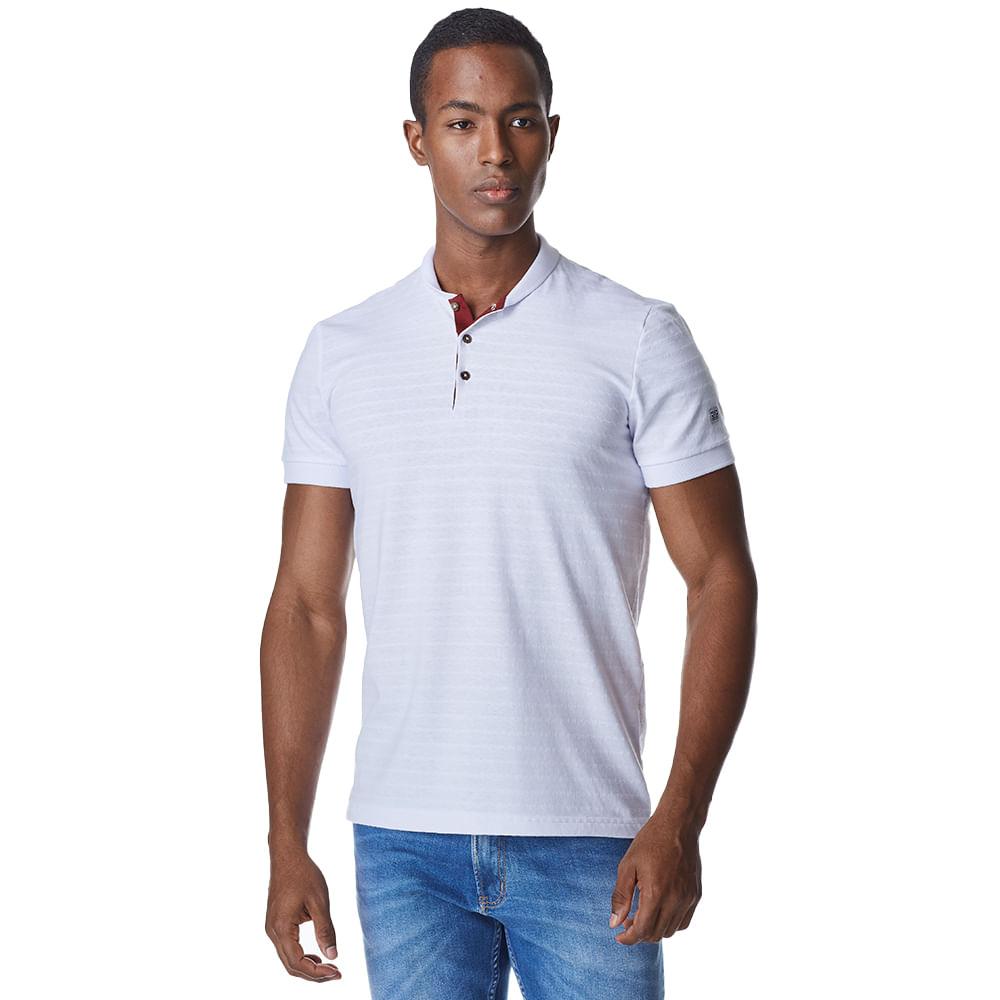 Camiseta-Manga-Curta-Masculina-Convicto-Gola-Mandarim