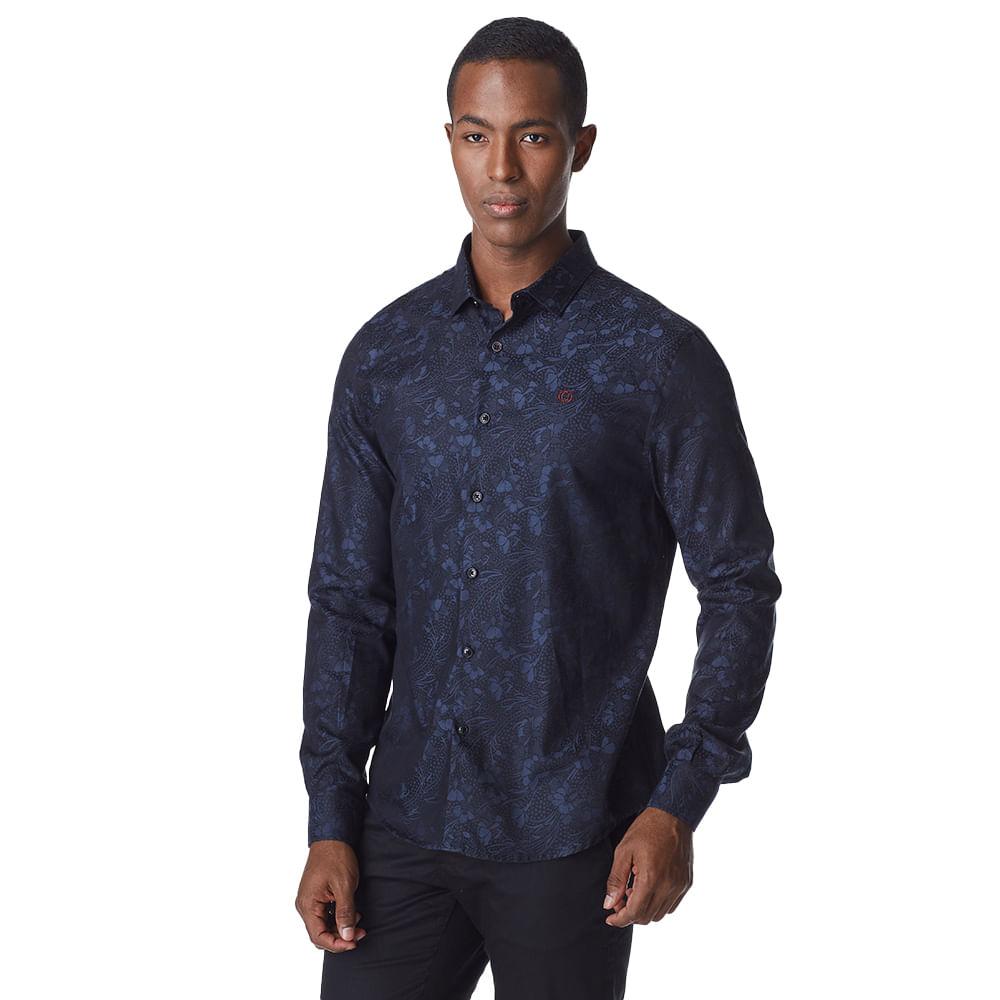 Camisa-Manga-Longa-Masculina-Convicto-Jacquard