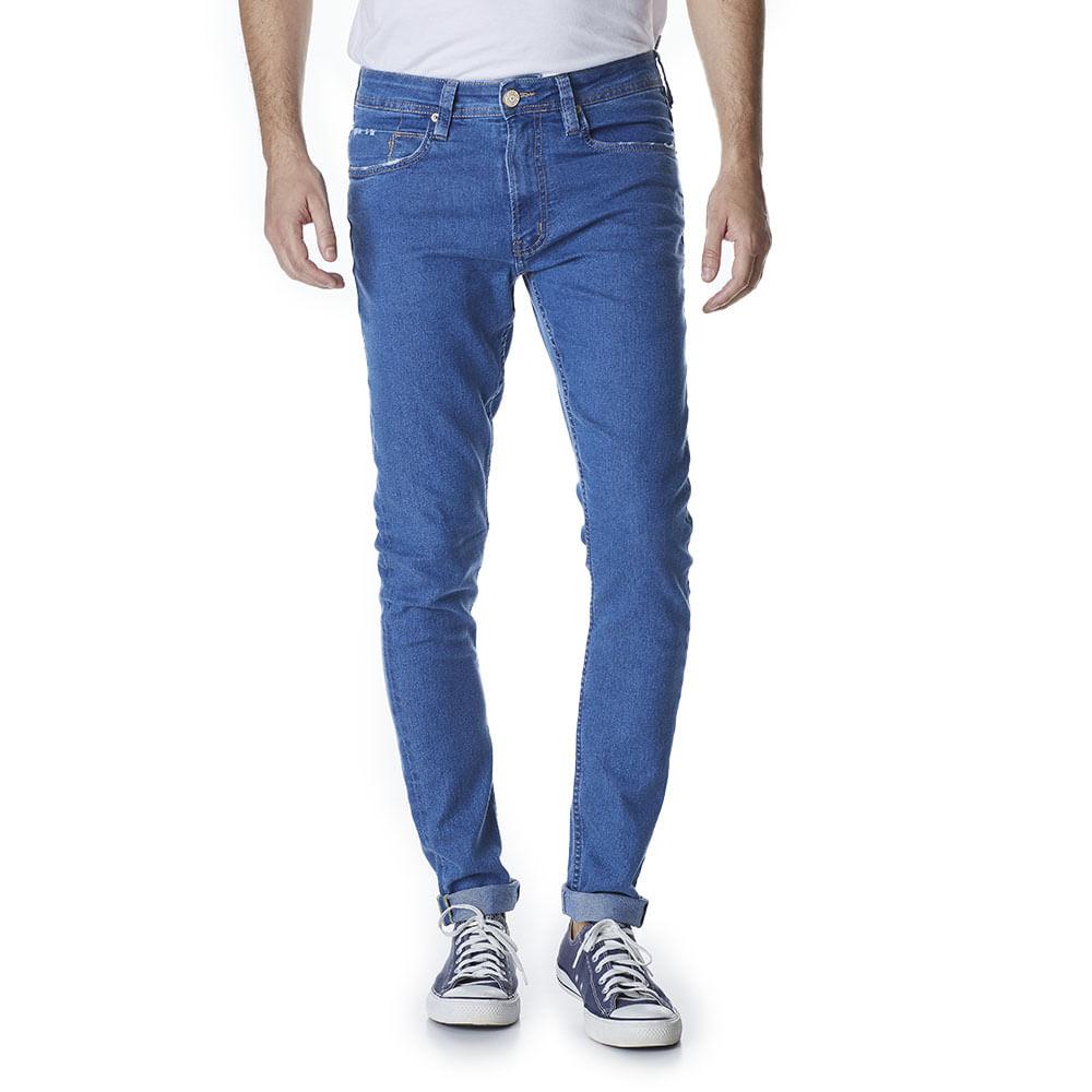 Calca-Jeans-Masculina-Super-Skinny-Azul