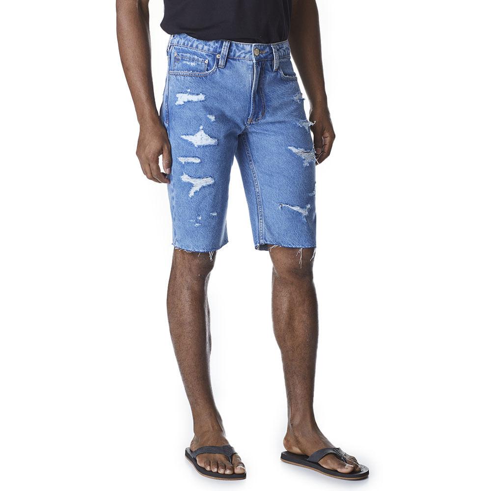 Bermuda-Jeans-Masculina-Convicto-Rasgada