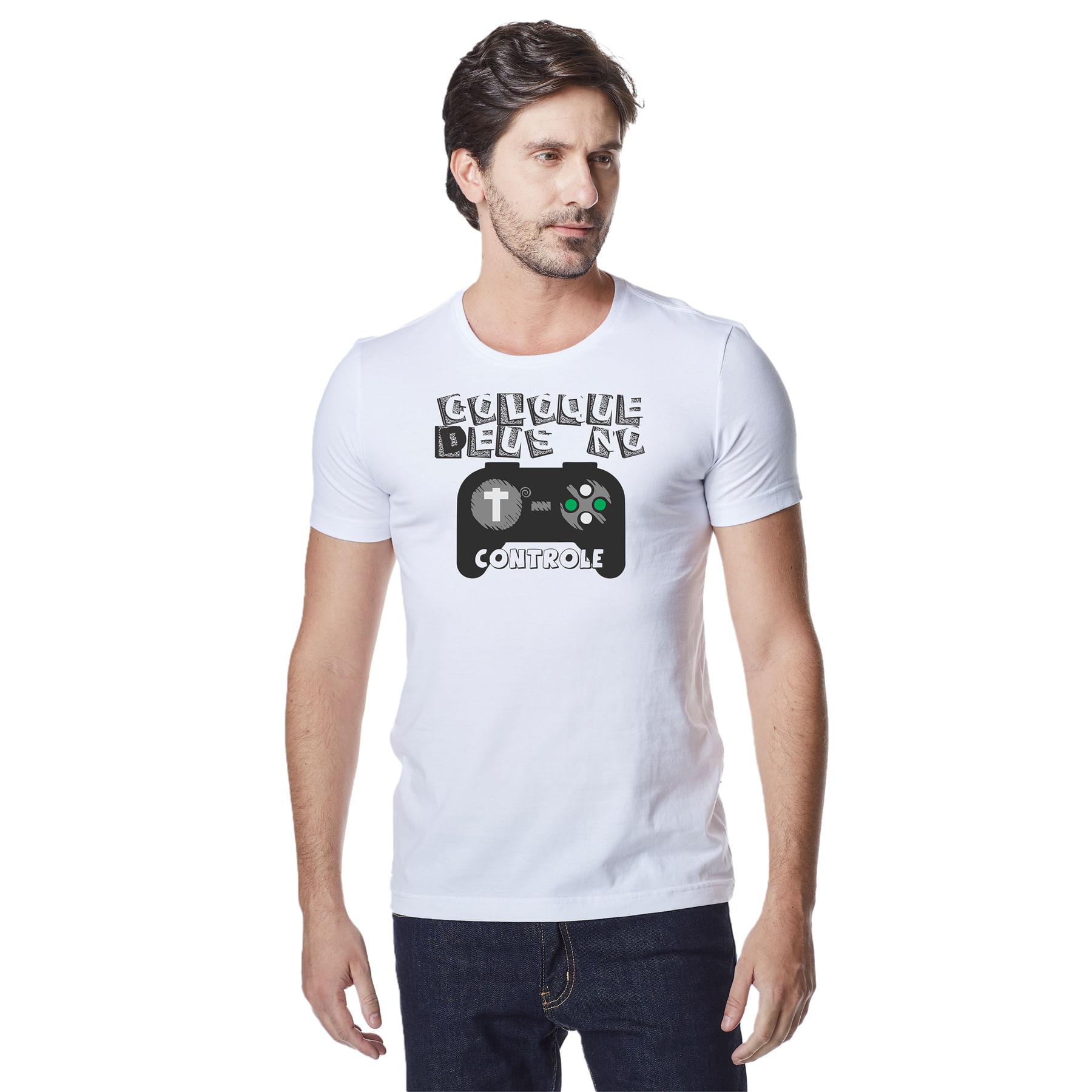 Camiseta-Masculina-Crista-Coloque-Deus-no-Controle-–-Palavra-De-Luz