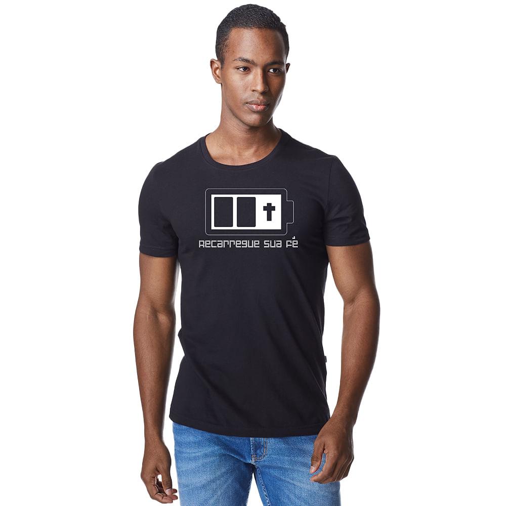 Camiseta-Masculina-Crista-Recarregue-sua-Fe-–-Palavra-De-Luz