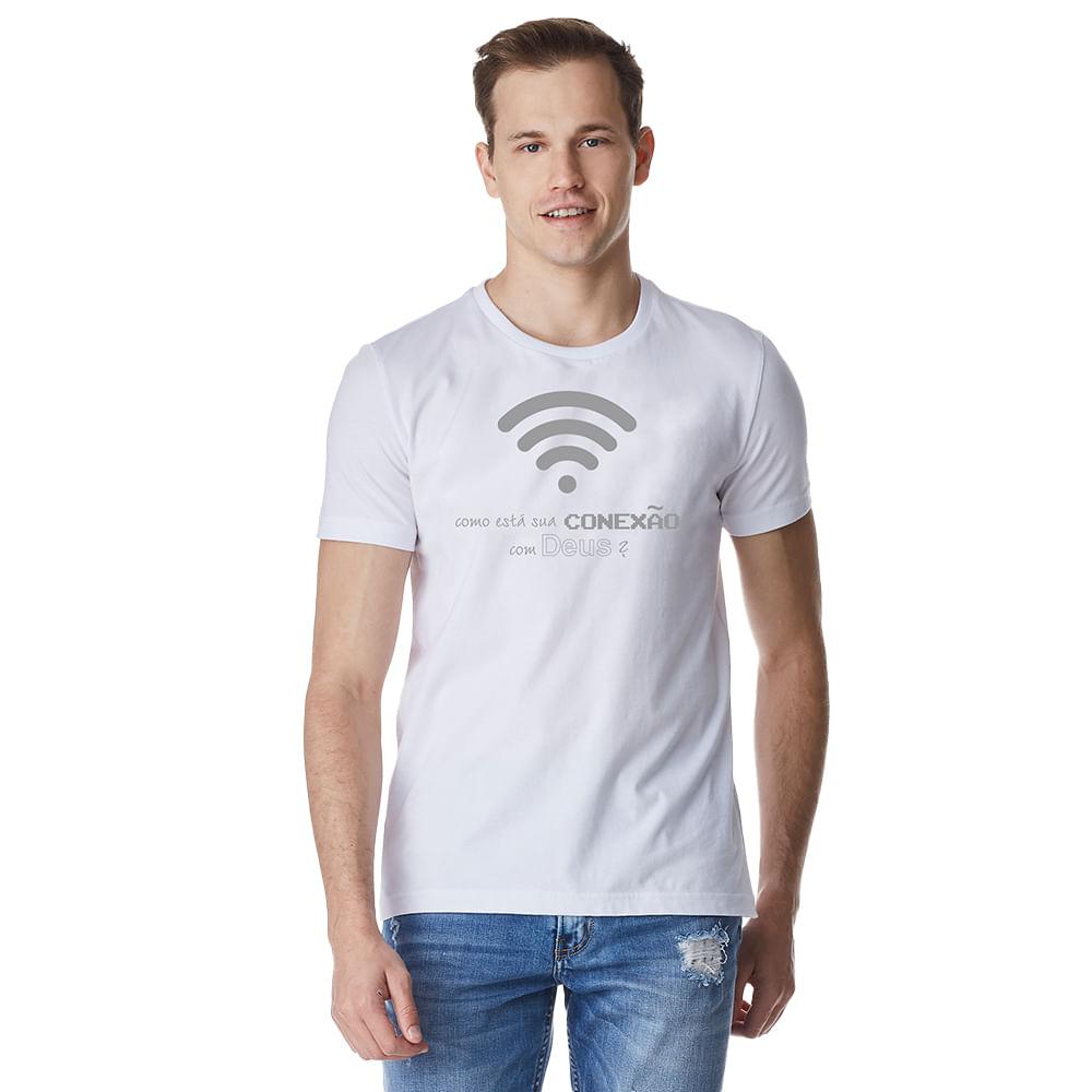 Camiseta-Masculina-Crista-Conexao-com-Deus-–-Palavra-De-Luz