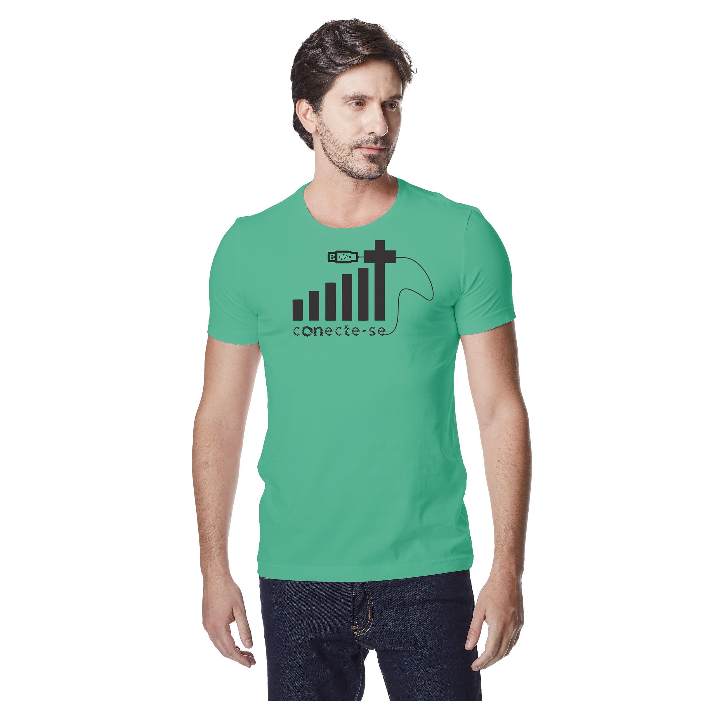 Camiseta-Masculina-Crista-Conecte-se-–-Palavra-De-Luz