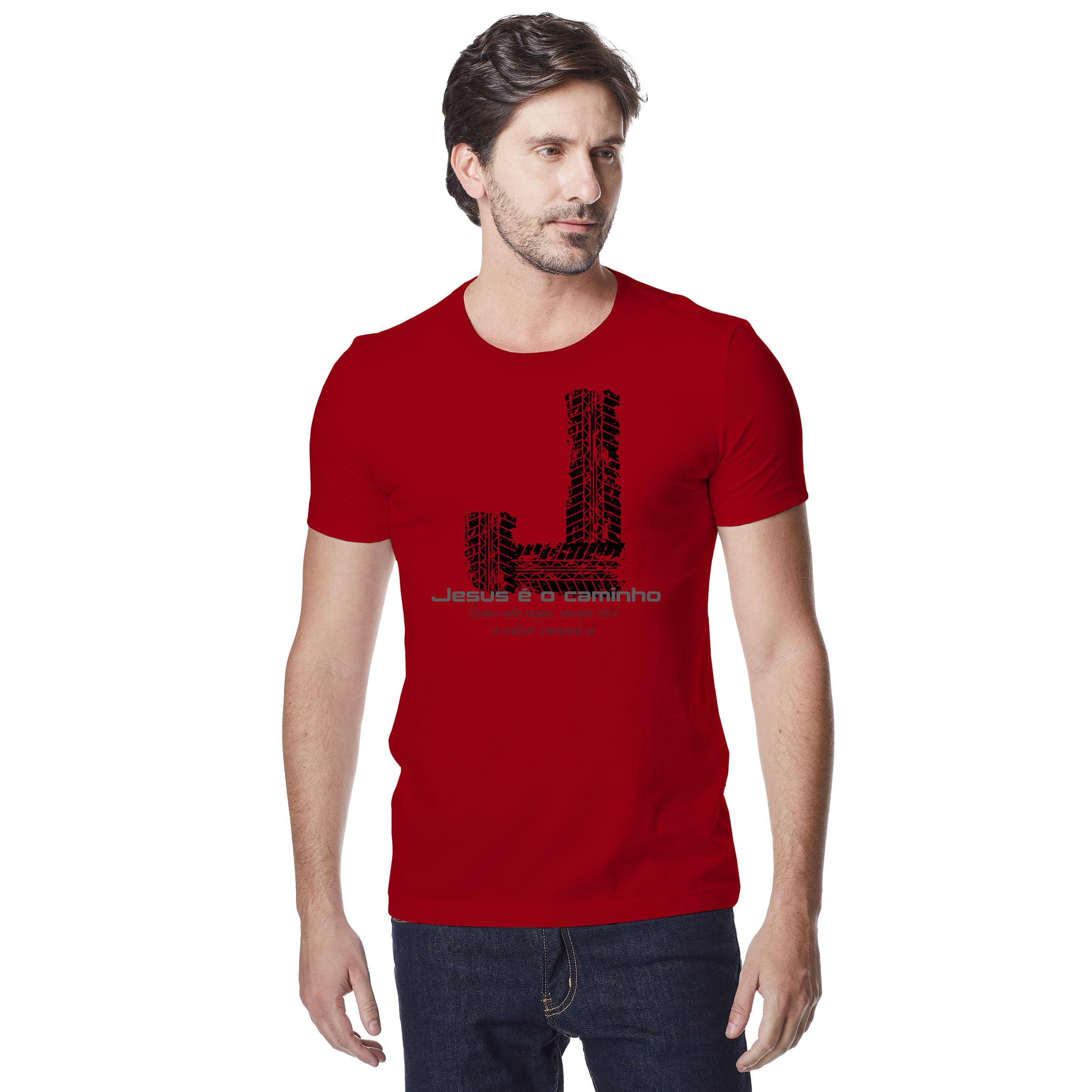 Camiseta-Masculina-Crista-Jesus-e-o-Caminho-–-Palavra-De-Luz
