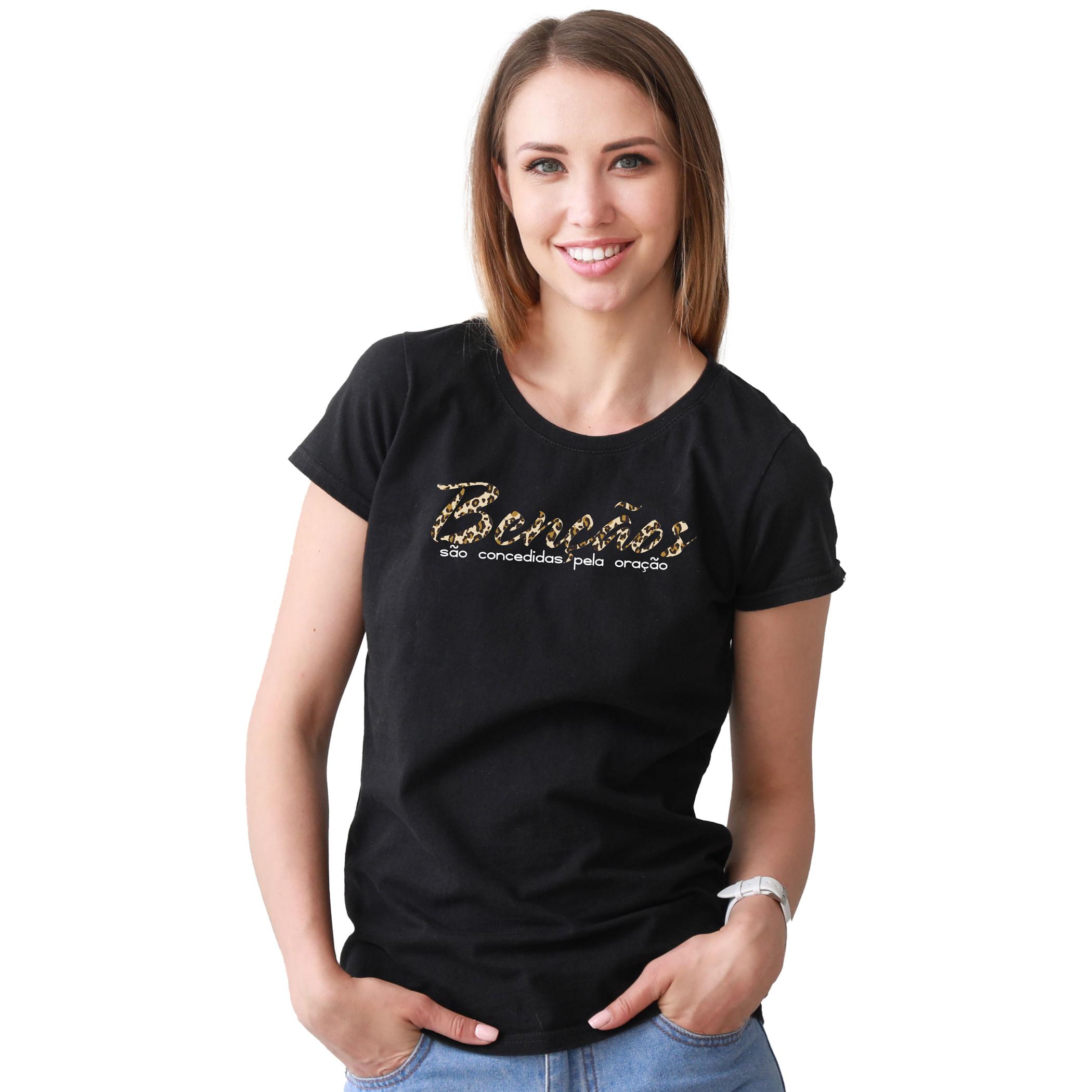 Camiseta-Feminina-Crista-Bencaos-Sao-Concedidas-Pela-Oracao---Palavra-De-Luz