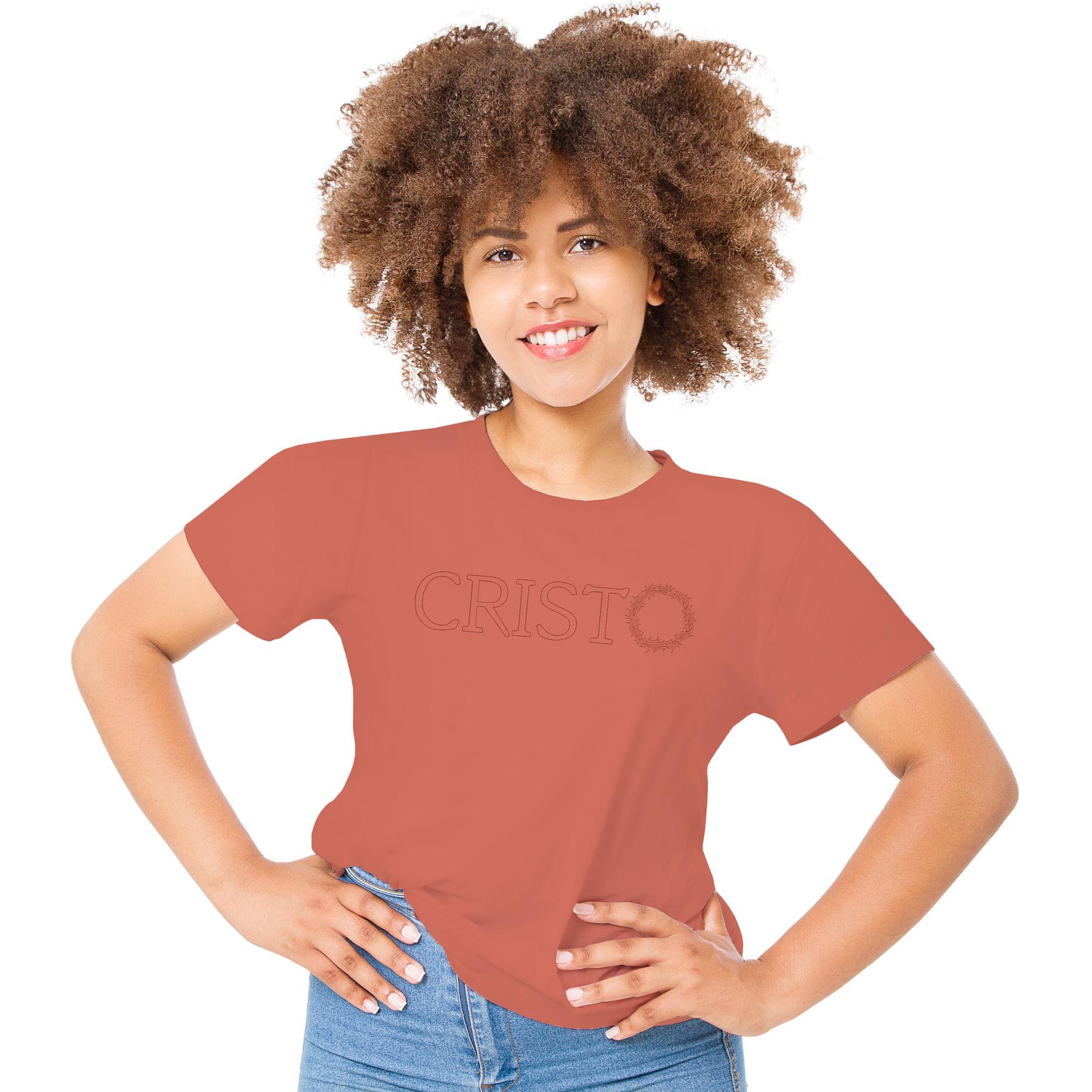 Camiseta-Feminina-Crista-bordado-CRISTO-–-Palavra-De-Luz